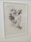 LAUWE LUCHT - Pencil on paper, sticker on glass 77 x 110 cm - 2012