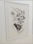 RIJP FRUIT - Pencil on paper, sticker on glass 77 x 110 cm - 2012